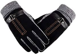 leather gloves canika thick warm men s