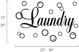 Amazon Com Moharwall Laundry Room Decal Quote Bubble Stciker Laundry Signs Wall Lettering Vinyl Art Sticker Decor Home Kitchen