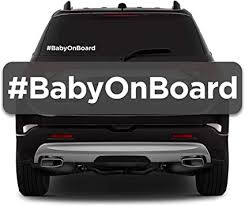 Amazon Com Reussir Baby On Board Sticker Car Decals Safety Signs Easy To Install Waterproof Simple Hashtag Design 2 Stickers Per Pack Arts Crafts Sewing