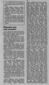 Cowlitz County Fair, 1985, Ribbon Winners. - Newspapers.com