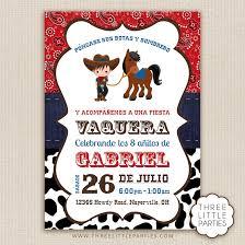 Invitaciones Para Fiesta Vaquera De Nino Samyysandra Com