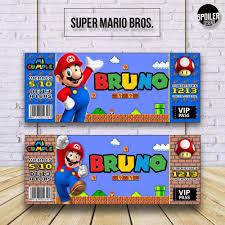 Invitaciones Tarjetas De Cumpleanos Super Mario Bros 6 00