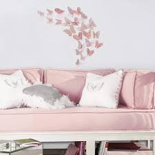 Pinkblume Rose Gold Butterfly Decorations 3d Wall Decals Metallic Art Sugar Plum Avenue Llc