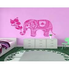 Decal House Wall Decals Vinyl Sticker Elephant Flowers Indian Animals Mandala Ganesh Girl Boy Bedroom Kids Nursery Children Baby Room
