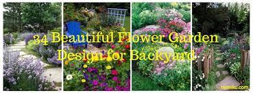 34 beautiful flower garden design for