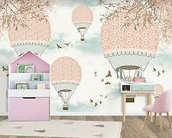 wall mural pink balloons on a pink