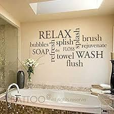 Amazon Com Battoo Bathroom Wall Decor Bathroom Wall Decal Bathroom Rules Wash Brush Floss Flush Bathroom Sign Bathroom Wall Art Stickers Vinyl Lettering Dark Brown 30 Wx13 6 H Furniture Decor