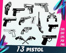 Pistol Svg Pistol Svg Weapon Svg Gun Svg Revolver Svg Double Gun Clipartic