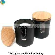 glass jar candle holder matte black