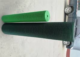 Vinyl Coated Green Wire Fencing Roll Outdoor 16 Gauge For Poultry Fencing