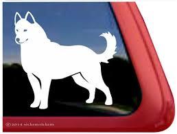 Custom White Siberian Husky Decals Stickers Nickerstickers