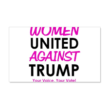 Women United Against Trump Wall Decal By Discotish Cafepress