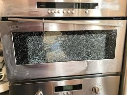 broken oven door and dull poor cleaning