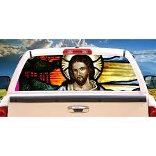 Jesus Christ Rear Window Graphic Back Truck Decal Christian Gift Walmart Com Walmart Com