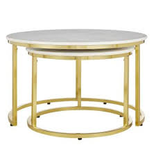 gold accent tables living room