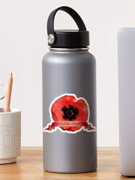 Lest We Forget Red Poppy Flower Remembrance Car Window Bumper Decal Sticker By Imagemonkey Redbubble