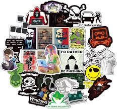 Amazon Com Hacker Stickers Cartoon Laptop Stickers Vinyl Sticker Computer Car Skateboard Motorcycle Bicycle Luggage Guitar Bike Decal 50pcs Pack Hacker