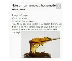 natural hair removal homemade sugar