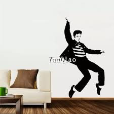 Elvis Presley Art Wall Decals Removable Pvc Wall Stickers Wish