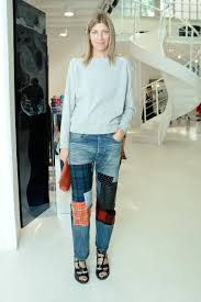 Virginia Smith sported patchy pants at the Brian Atwood Spring ...