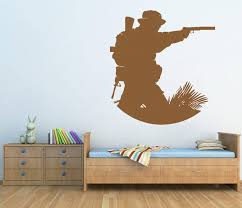 Ik721 Wall Decal Sticker Decor Wall Army Soldier Military Shooter Kids Stickersforlife