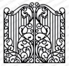 Impression Obsession Wrought Iron Fence Craft Die Die450 Yy 123stitch