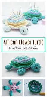 african flower hexagon motif turtle