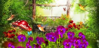 fairy tale garden 3d live wallpaper