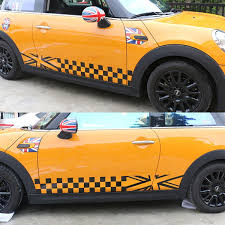 Cool Car Side Skirt Decor Stickers And Decals For Mini Cooper Automobile Vinyl Accessories Car Styling Sticker Cover Wish