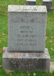 Addie Lewis Fay (1846-1894) - Find A Grave Memorial