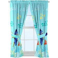 Finding Dory Drapes Blue Child S Bedroom 2 Window Curtain Panels Boys Home Decor Disney Kids Bedroom Decor Finding Dory Finding Nemo Nursery