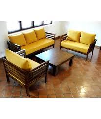 furny wooden sofa set 3 plus 2 plus 1