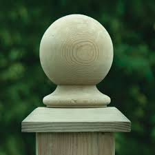 Ball Finial Wooden Fence Post Cap Pressure Treated Free Delivery Available