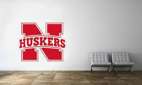 Nebraska Cornhuskers Logo Ncaa Wall Decal College Football Decor Vinyl Sticker Ebay