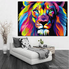 2020 Pop Art Hd Print Colorful Lion Animals Abstract Oil Painting On Canvas Modern Wall Art Picture For Kid Room Poster Cudros Decor From Cyon2017 9 44 Dhgate Com
