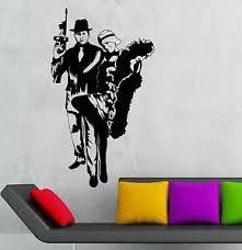 Vinyl Decal Gangster Sexy Girl Mafia Gun Kids Room Wall Stickers Ig1766 682017290126 Ebay