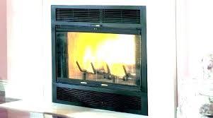 likable gas fireplace doors open