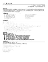best nutritionist resume exle