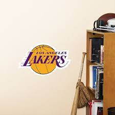 Los Angeles Lakers Logo Large Officially Licensed Nba Removable Wall Decal Sports Wall Decals Los Angeles Lakers Los Angeles Lakers Logo