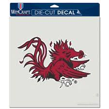 South Carolina Gamecocks Wincraft 8 X 8 Color Car Decal