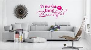 Be Your Own Kind Of Beautiful Wall Quote Sticker Fun Decals For Cars Vinyl Decals Wall Quote Decals