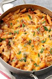 one pot cheesy sausage penne recipe