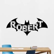 Amazon Com Personalized Batman Wall Decal Custom Boy Name Arkham Logo Emblem Logotype Superhero Comics Cartoon Poster Wall Vinyl Sticker Kids Teen Boy Room Nursery Bedroom Wall Art Decor Mural 174zzz Home