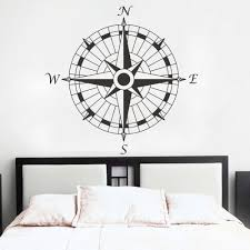 Nautical Vinyl Stickers Wall Decorations Mural Decal High Quality New Compass