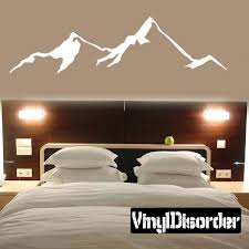 Mountains Wall Decal Vinyl Decal Car Decal Mc17 Mountain Wall Decal Mountain Decal Home