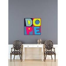 Shop Maxwell Dickson Dope B Modern Canvas Wall Art Overstock 15647795