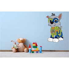 Rocky Mighty Pup Paw Patrol Wall Decal 30 X16 Mighty Rocky Colored Bedroom Decoration Mega