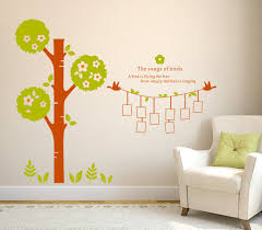 Family Tree Living Room Decorative Stickers With Blank Frames And Love Quote Wall Stickers Wall Decals Decalsdesignindia