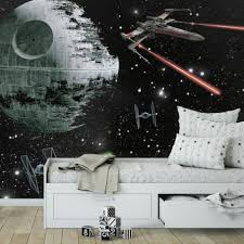 Star Wars Photo Wall Mural Large Panoramic Millennium Falcon Design Stickers Full Wallpaper Vamosrayos