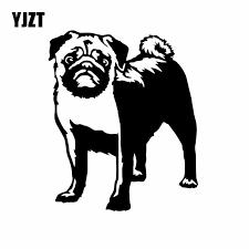 Yjzt 13x15 8cm Funny Car Sticker Pug Puppy Vinyl Decal Art Animals Best Dog Lovers Decor Black Silver C24 1503 Car Stickers Aliexpress